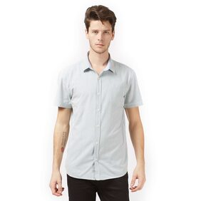 MINT & COTTON Men Slim Fit Casual shirt - White