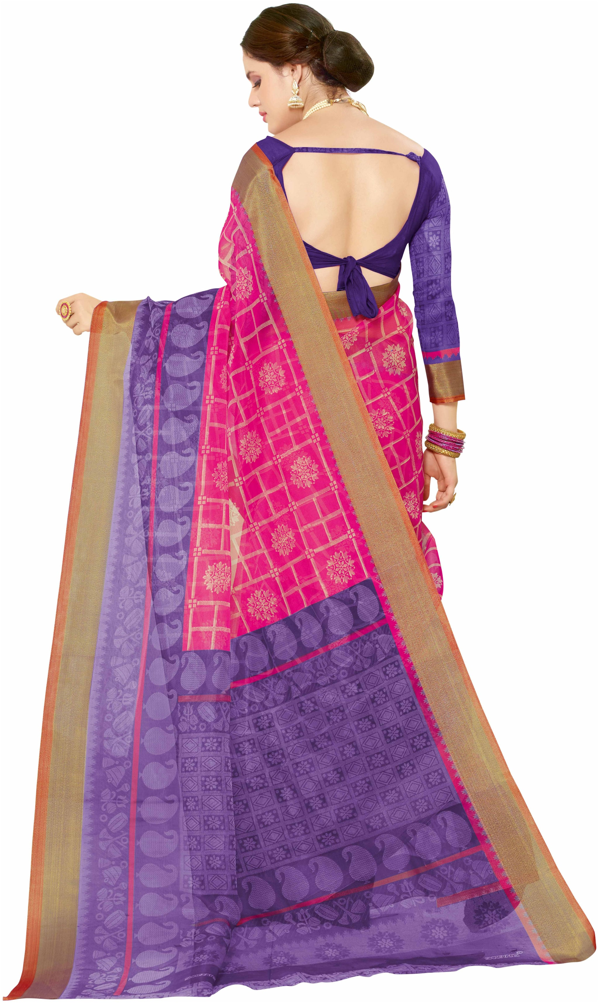 95dece73c7 Buy Miraan Printed Organza Silk Saree for women with Blouse (93) Online at  Low Prices in India - Paytmmall.com