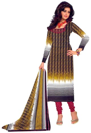 0fe47fdcf6 Buy Miraan Satin Printed Dress Material - Multi Online at Low Prices ...
