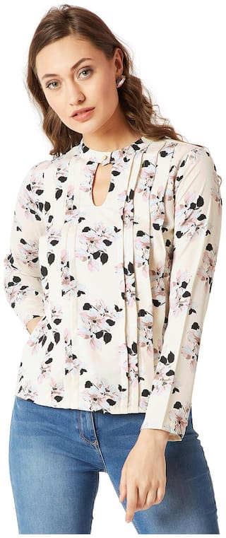 Miss Chase Women Floral Regular top - White