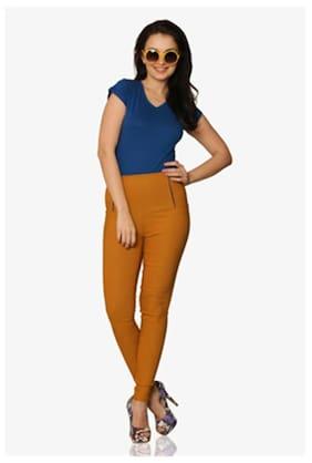 Miss Chase Women's Cobalt-Blue V-Neck Short Sleeves Solid Basic Top