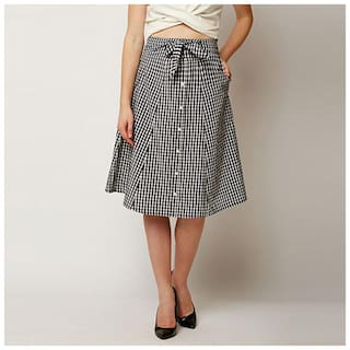 Miss Chase Checked A-line skirt Maxi Skirt - Multi