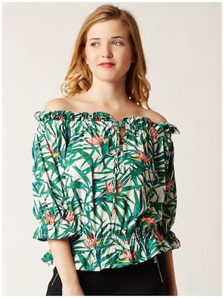 Miss Chase Women Crepe Printed - A-line Top Multi