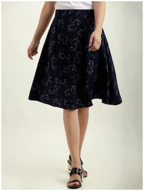 Miss Chase Women s Multicolored Printed Knee Long Flared Pleated Skater  Skirt 2c26ed75e