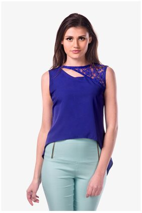 Miss Chase Women Solid - Blue