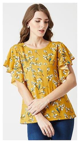 Women Floral Round Neck Top ,Pack Of 1