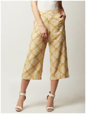 Miss Chase Women Regular Fit High Rise Printed Pants - Orange