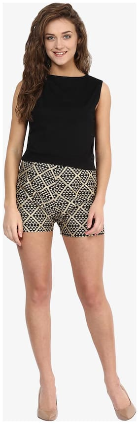 Women Polyester Slim Fit Shorts