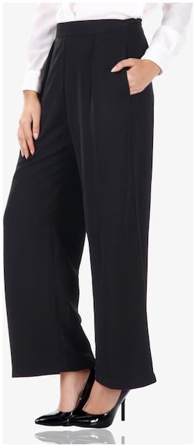 Women Solid Cigarette Pants