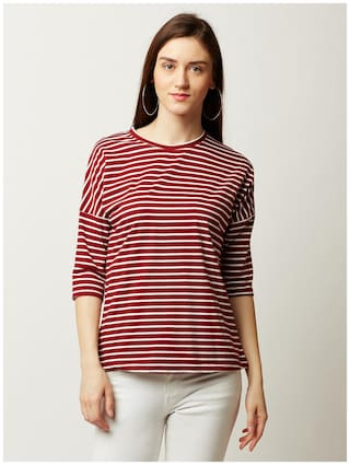 Miss Chase Women Printed A-line top - Red