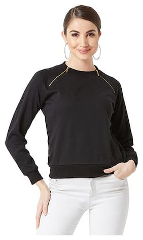 Women Solid Sweatshirt