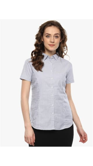 Navy Checked Miss Shirt Formal Forever wB5qaSqn8E