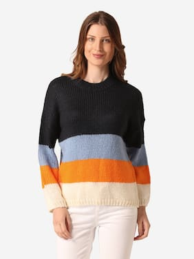 Women Colourblocked Sweater ,Pack Of 1