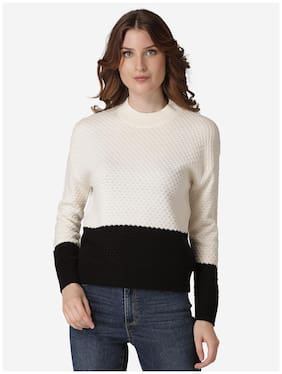 Women Colourblocked Sweater