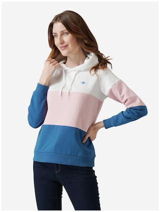 Mode by Red Tape Women Colourblocked Hoodie - Multi