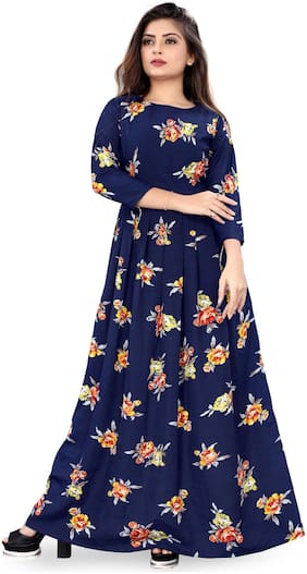 MODELTY Blue Floral Maxi dress