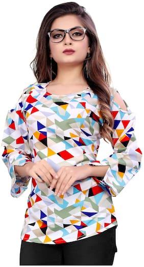 MODELTY Women Geometric Regular top - Multi