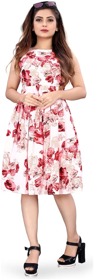 MODELTY Multi Floral Fit & flare dress