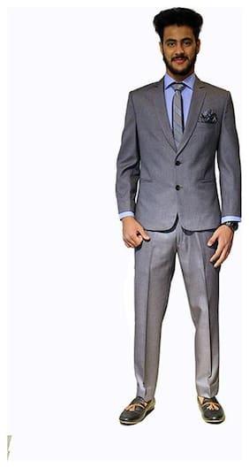 MODERN MUSE Men Rayon Slim fit Suit - Grey