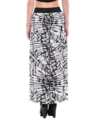 Print Modish Vogue Black Palazzo White Printed and gXgq4
