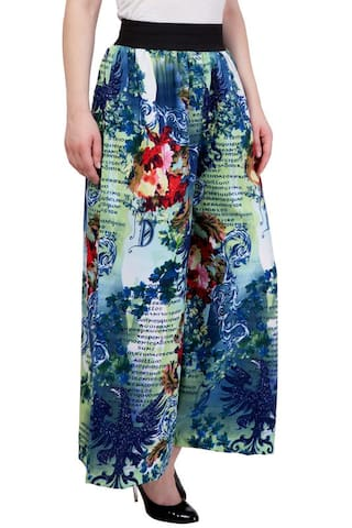 Green amp; Palazzo Multi Blue Print Modish Floral Vogue n8pZqT6
