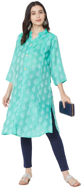 MOM'S BEE Women Maternity Kurta - Blue Xxl