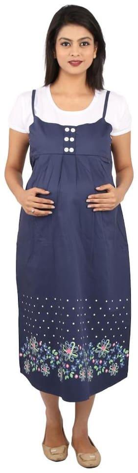MomToBe Blue & White Maternity Dress