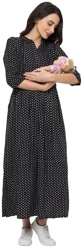 Momtobe Women Maternity Dress - Black 3xl