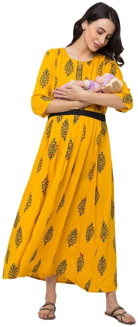 Momtobe Women Maternity Dress - Yellow 3xl