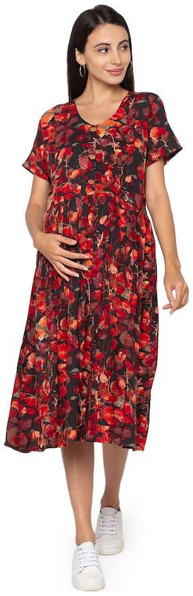 Momtobe Women Maternity Dress - Black M