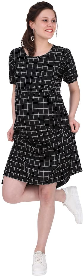Momtobe Women Maternity Dress - Black Xl
