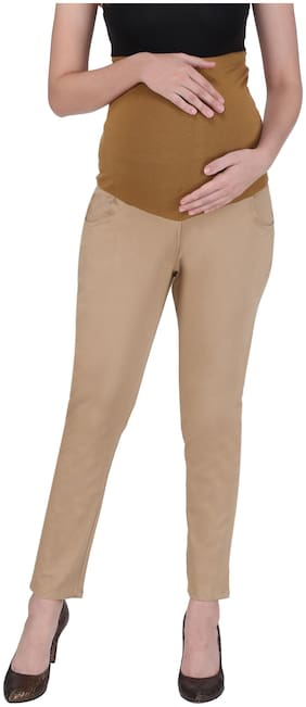Momtobe Women Maternity Trousers - Beige Xl