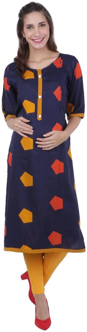 Momtobe Women Maternity Kurta - Blue Xxl