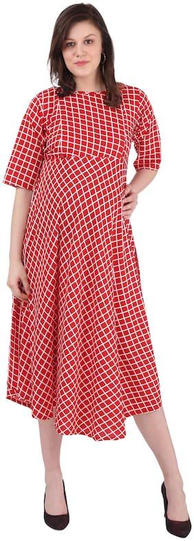 Momtobe Women Maternity Dress - Red L