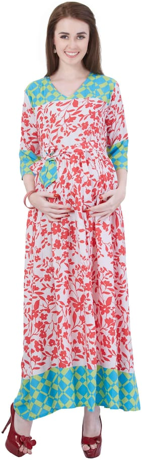 Momtobe Women Maternity Kurta - Multicolor Xl