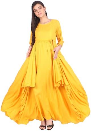 Momtobe Women Maternity Dress - Yellow Xl