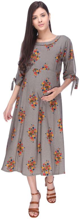 Momtobe Women Maternity Dress - Grey Xxl