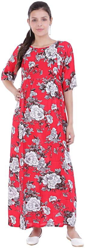 Momtobe Women Maternity Dress - Red Xxl