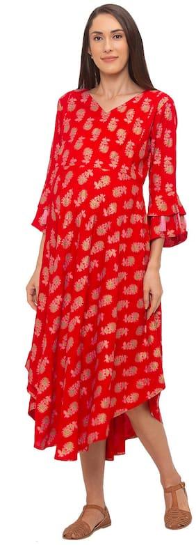 Momtobe Women Maternity Dress - Red M