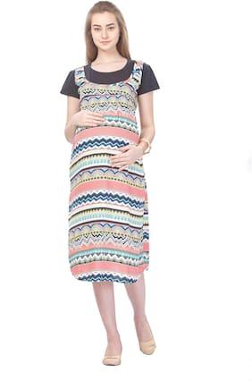 Momtobe Women Maternity Kurta - Multicolor Xxl