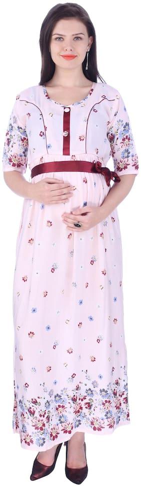 Momtobe Women Maternity Kurta - Multicolor L