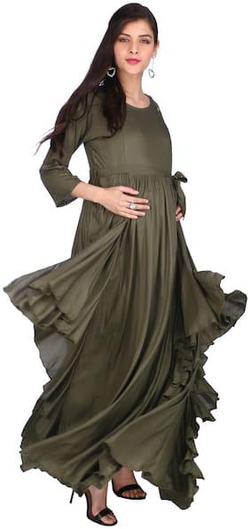 Momtobe Women Maternity Dress - Green M