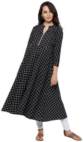 Momtobe Women Maternity Kurta - Black M