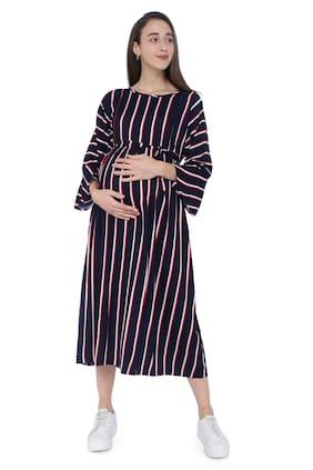 Momtobe Women Maternity Dress - Blue M