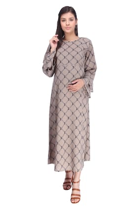 Momtobe Women Maternity Dress - Grey L