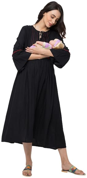 Momtobe Women Maternity Dress - Black M