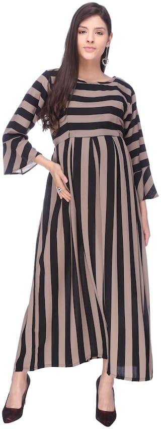 Momtobe Women Maternity Dress - Beige M