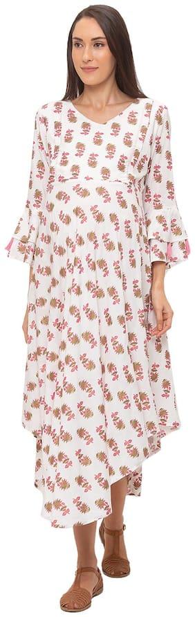 Momtobe Women Maternity Dress - White M