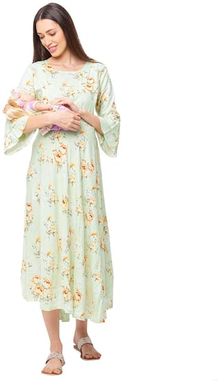 Momtobe Women Maternity Dress - Green M