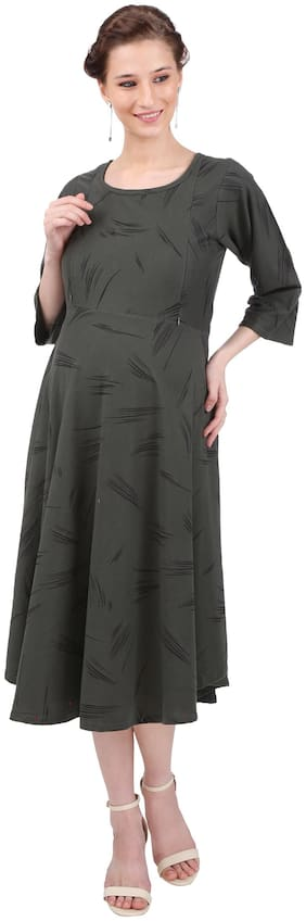 Momtobe Women Maternity Dress - Green Xl